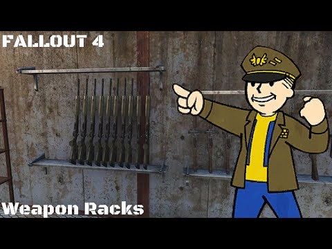 Fallout 4: Armory: How to Make Weapon Racks (PS4) (Xbox) (PC)