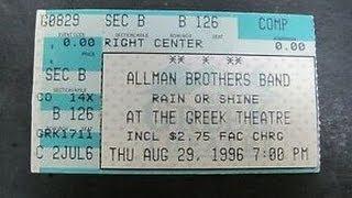 Allman Brothers Band - True Gravity (Best Warren Haynes solo) Greek Theatre, Berkeley CA 8-29-1996