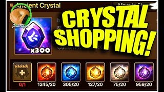 SUMMONERS WAR: Trading in Nat5 Dupes & Ancient Crystal Shopping!
