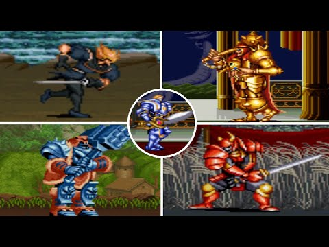 Game n°052 - Knights of the Round ( SNES ) All bosses ( No death )  
