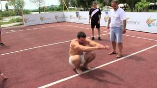 Прыжок с места на  3 метра - Александр Шепель