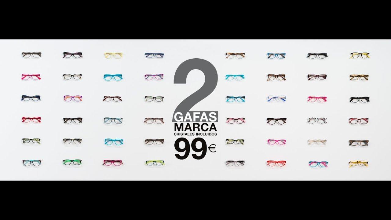 OPTICALIA - 2 Gafas de Marca por 99 Euros - Con Cristales Incluidos ...