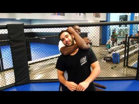 Jeff Mayweather gets an MMA lesson from American Top Team's Ryan Quinn