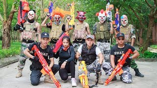 NERF WAR : Special Task SWAT Warriors Nerf Guns Fight Criminal Group Mask Bandits Mega Mod Elite