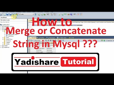 MySQL Tutorial | How To Merge Or Concatenate Two String In MySQL Query
