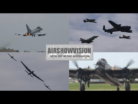 RETURN OF THE LANCASTER - CONINGSBY FAMILIES DAY 2016 (airshowvision)