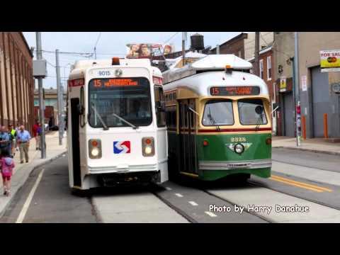 Philadelphia Girard Ave K Car Fan Trip to Delaware Ave at Frankford
