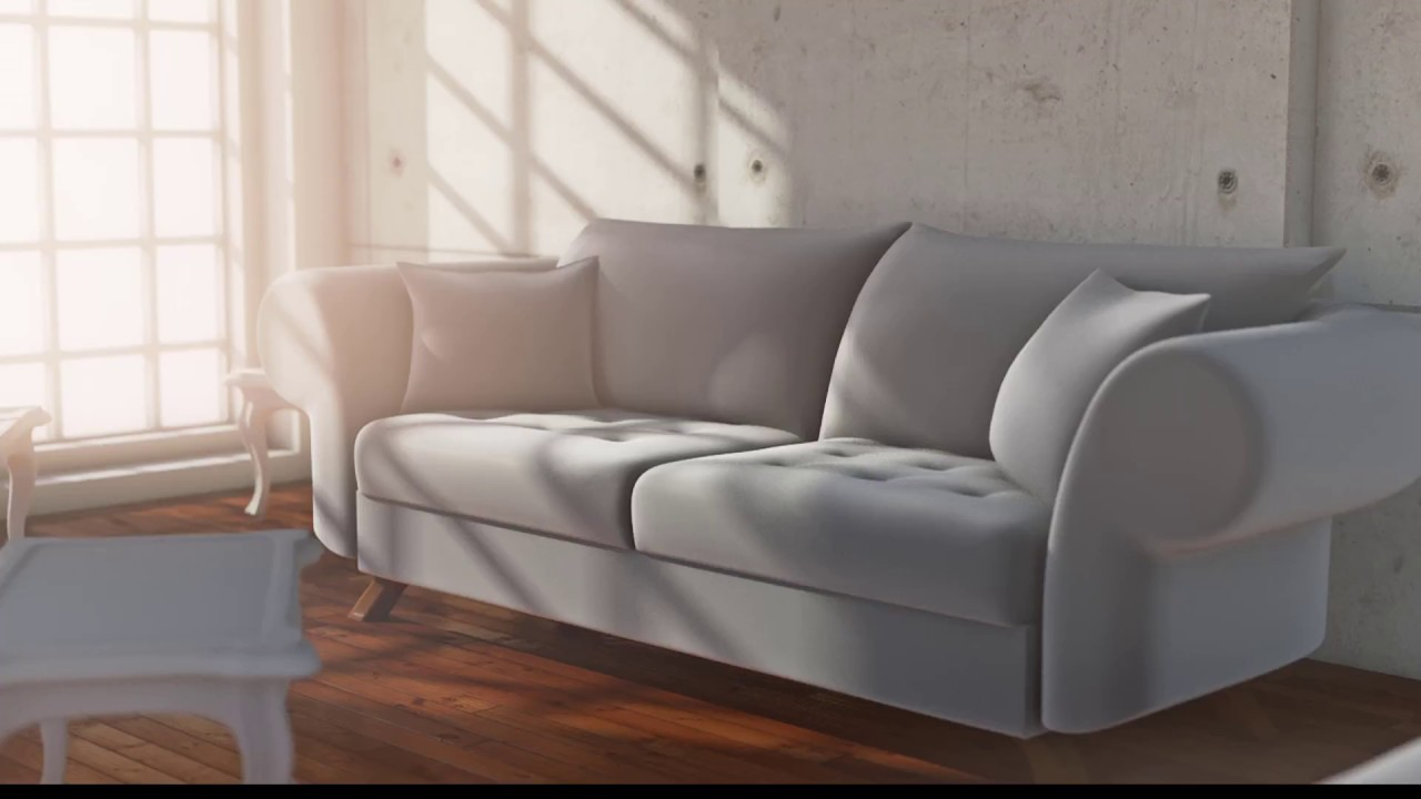Couch Polstermöbel Cinema 4d Modelling Sofa