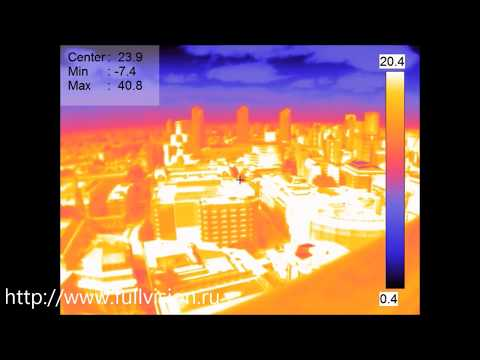 View of London from the top of St Paul's Cathedral. Thermal imaging. London, Great Britain, UK.