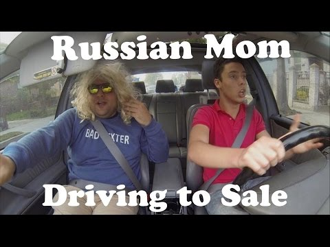 What Russian Mom Say When Driving to Sale