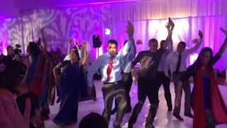 Best Ladies Sangeet Performance by Groom's brother sisters   Punit and Rakshas Wedding 2017