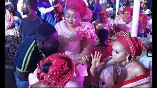 Kemi Afolabi,Ronke Odunsanya,Mercy Aigbe,Eniola Ajao,dance &enjoying themselves at OBA wedding 2018