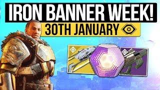 Destiny 2   WEEKLY RESET! - Iron Banner, January Update, Nightfall & Eververse! (30th January 2018)
