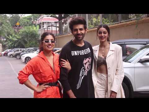 Pati Patni Aur Woh Star Cast Spotted Promoting Their Film At Juhu Mp3