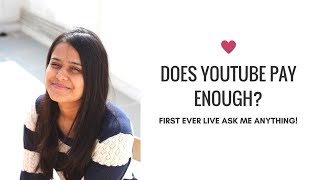 Does Youtube Pay Enough? Dealing With Hate? | Live QnA With Saloni