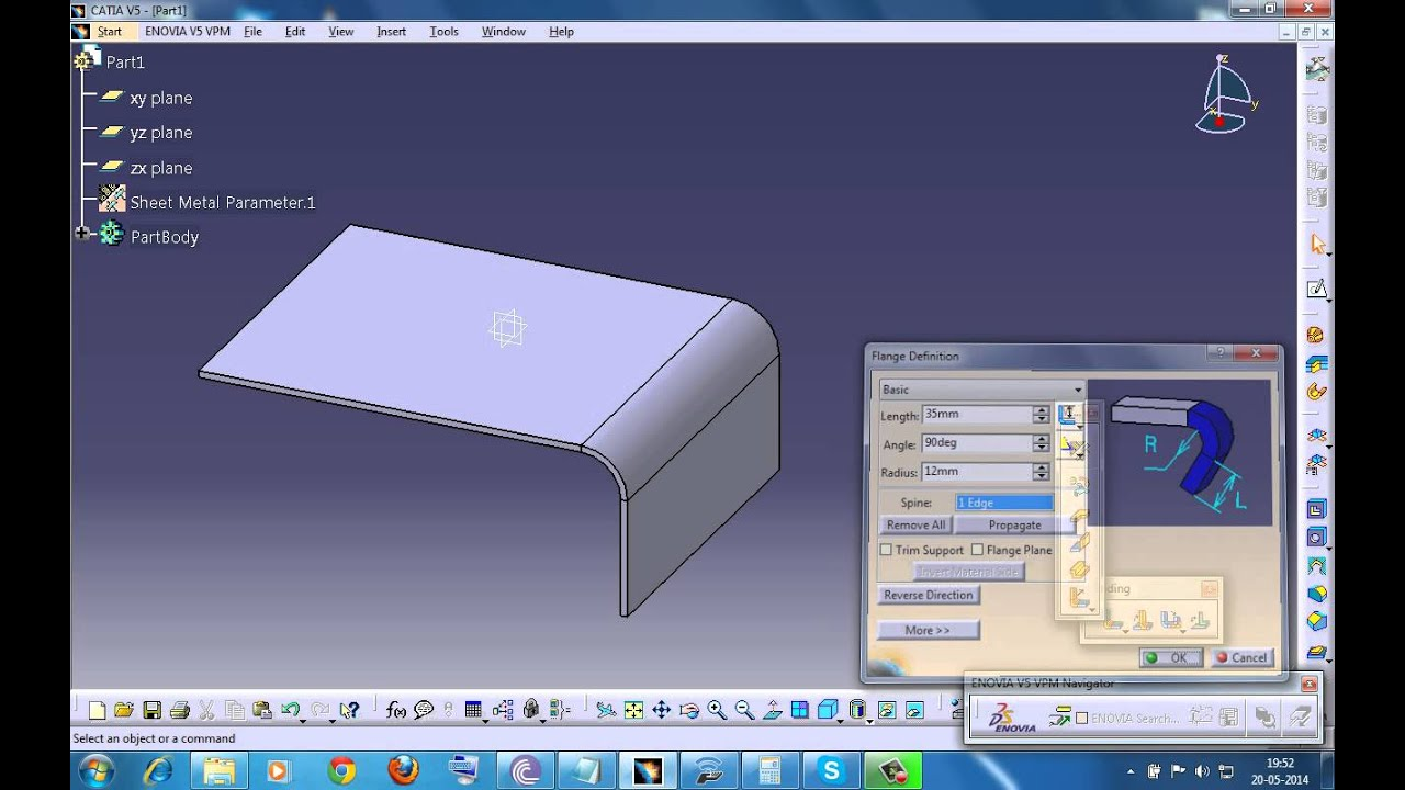Catia V5 Tutorial Folding And Unfolding For Cut Outs Or