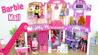 Barbie & Rapunzel Shop at Barbie Malibu Mall مركز تسوق باربي Barbie Centro de compras