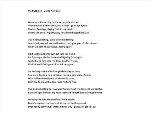 Mad Caddies - Brand New Scar Lyrics