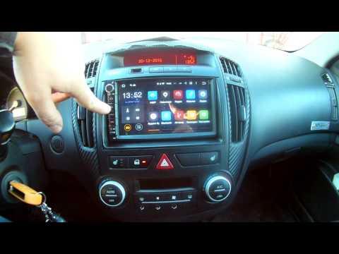 2din универсальная автомагнитола на Android 5.1 в Kia Ceed часть 1