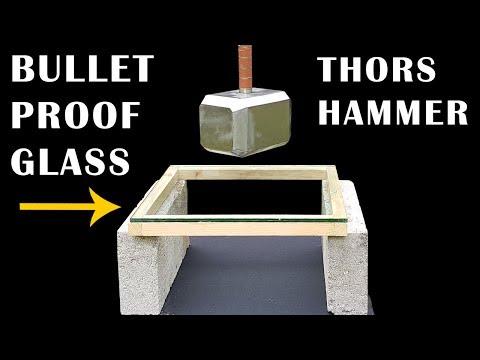 91lb THOR HAMMER v BULLETPROOF GLASS - Episode 9 - BrainfooTV