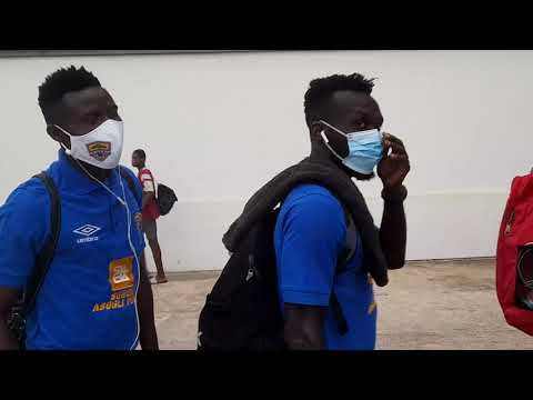 Accra Hearts of Oak Arrives at the Accra Sports Stadium for the Mtn Fa Cup