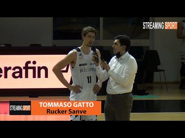 Tommaso Gatto al termine della partita vinta dalla Rucker contro Teramo 17 aprile 2021