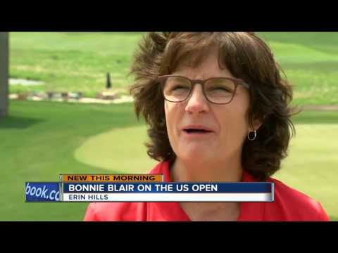Bonnie Blair shows off the golfer in her