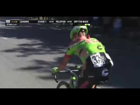 Toms Skujiņš crashed out Stage 2 of Tour of California