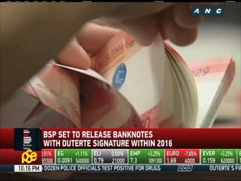 BSP set to release banknotes with Duterte signature - YouTube