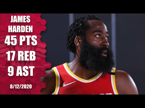 James Harden scores 45 points in near triple-double for Rockets vs. Pacers | 2019-20 NBA Highlights