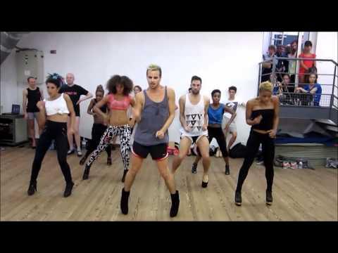 Woman studies break down dance routine