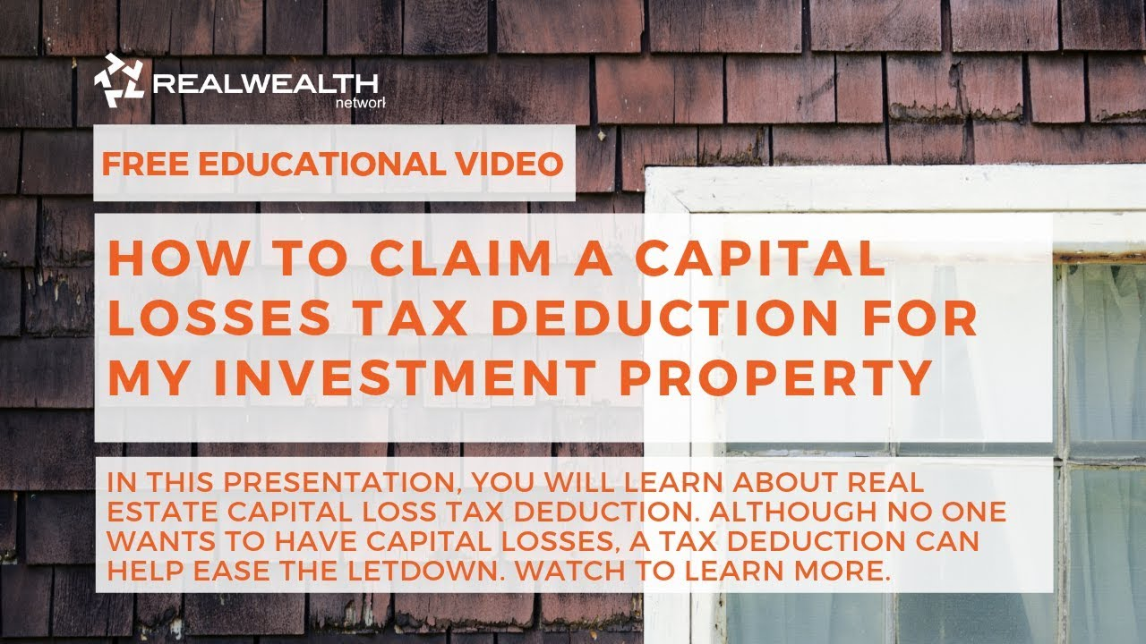 Tax deduction for loss on sale of investment property return risk and liquidity components of investments