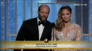 Jennifer Lopez & Jason Statham Presenting at the Golden Globes 2013 (HD)