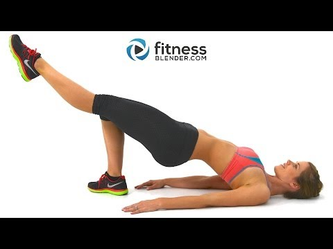At Home Butt and Thigh Workout Video with Cardio Intervals - Fat Burning Cardio Workout + Lower Body