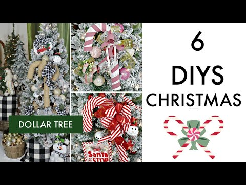 "🎄6 DIY DOLLAR TREE CHRISTMAS DECOR CRAFTS 2019 🎄""I Love Christmas"" ep 7 Olivia's Romantic Home DIY"