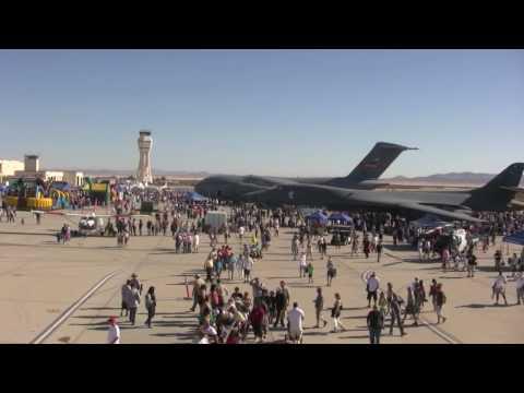 Airshow at Edwards Air Force Base in California