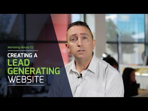 The key to creating a lead generating website - MM112