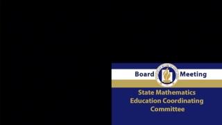State Mathematics Education Coordinating Committee thumbnail