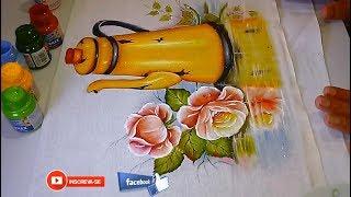 Aprenda a pintar CHÃOZINHO ESPELHADO – Continuação Bule amarelo- PARTE 3 FINAL