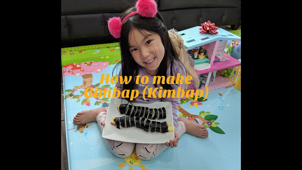 How To Make Kimbap! (Gimbap) Cook For Kids