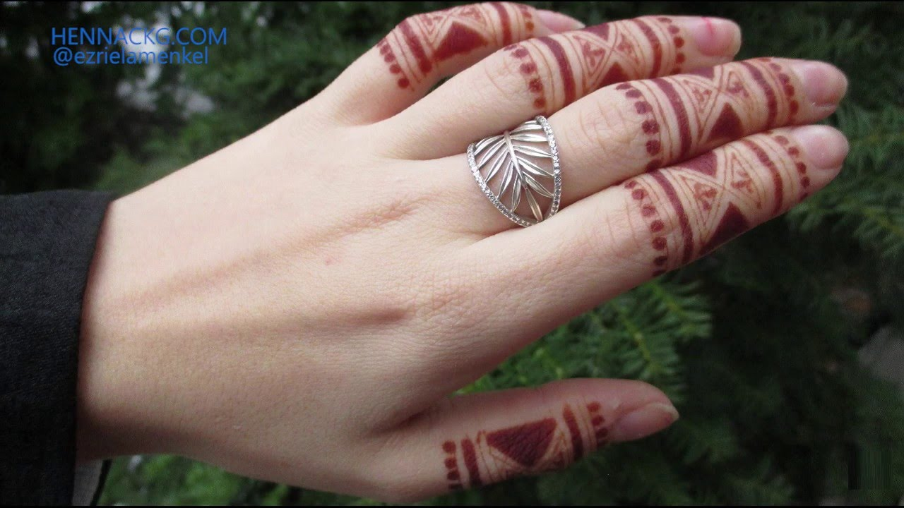 Simple Finger Henna Design By Henna Ckg Youtube