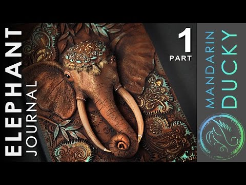 ELEPHANT JOURNAL TUTORIAL Part 1 - polymer clay by Mandarin Duck