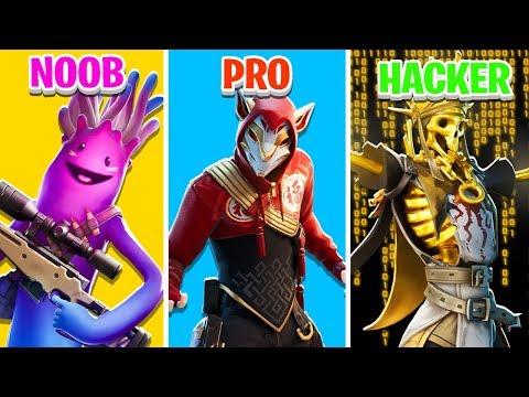 NOOB vs PRO vs HACKER in Fortnite Battle Royale