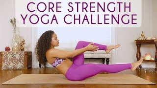 Yoga for Lower Abs & Obliques, Core Strength Challenge, Workout At Home | Yoga with Yiana