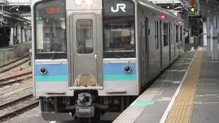 大糸線E127系松本駅発車