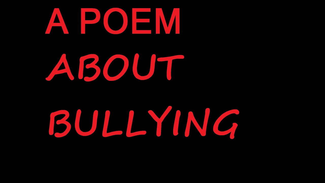 A Poem About Bullying - Michael Mainer - YouTube