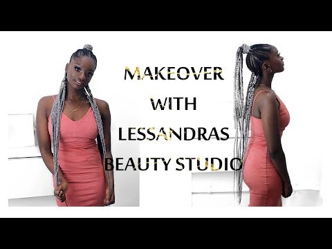 How to Feeding braids  Makeover with Lessandras Beauty Studio