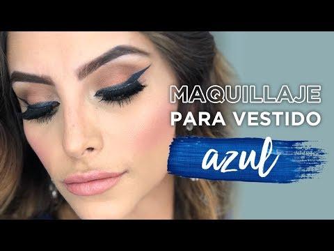 Maquillaje Para Ir De Fiesta Con Vestido Azul Muakkcom