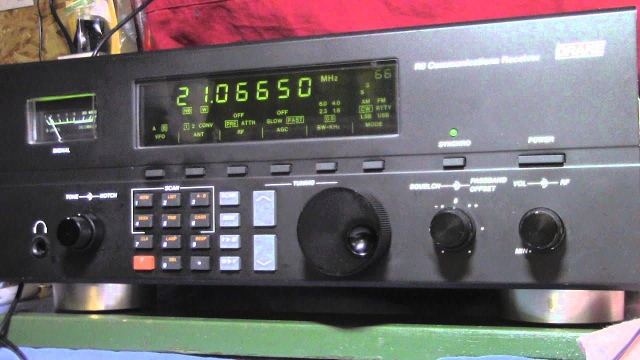 W1AW CW Practice 10 WPM Drake R-8 Receiver