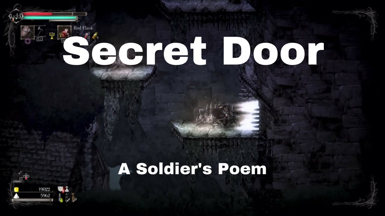 Salt And Sanctuary Secret Door Leading To A Soldiers Poem Youtube